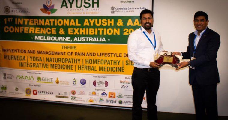 International Conference Melbourne: AYUSH Dept India